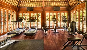 Flood Lit Tennis Court, Cardiovascular & Strength Training Equipments - The Gym at The Oberoi, Bali