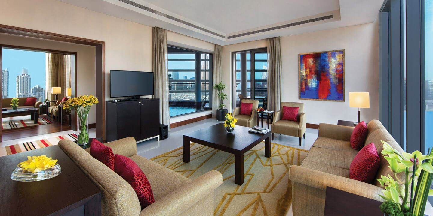 Presidential Suite With Master Bedroom, Living, Kitchen, Dining & Balcony at The Oberoi, Dubai