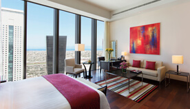 Emphasis on Space, High Ceilings & Natural Light - Highlight of The Deluxe City View Rooms at The Oberoi, Dubai