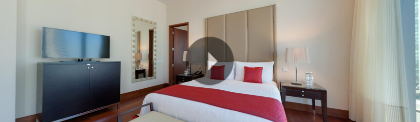 Take a 360° View of The Deluxe City View Rooms at The Oberoi, Dubai