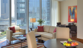 Spacious Accommodation is The Highlight in The Deluxe Suites With Private Balcony at The Oberoi, Dubai