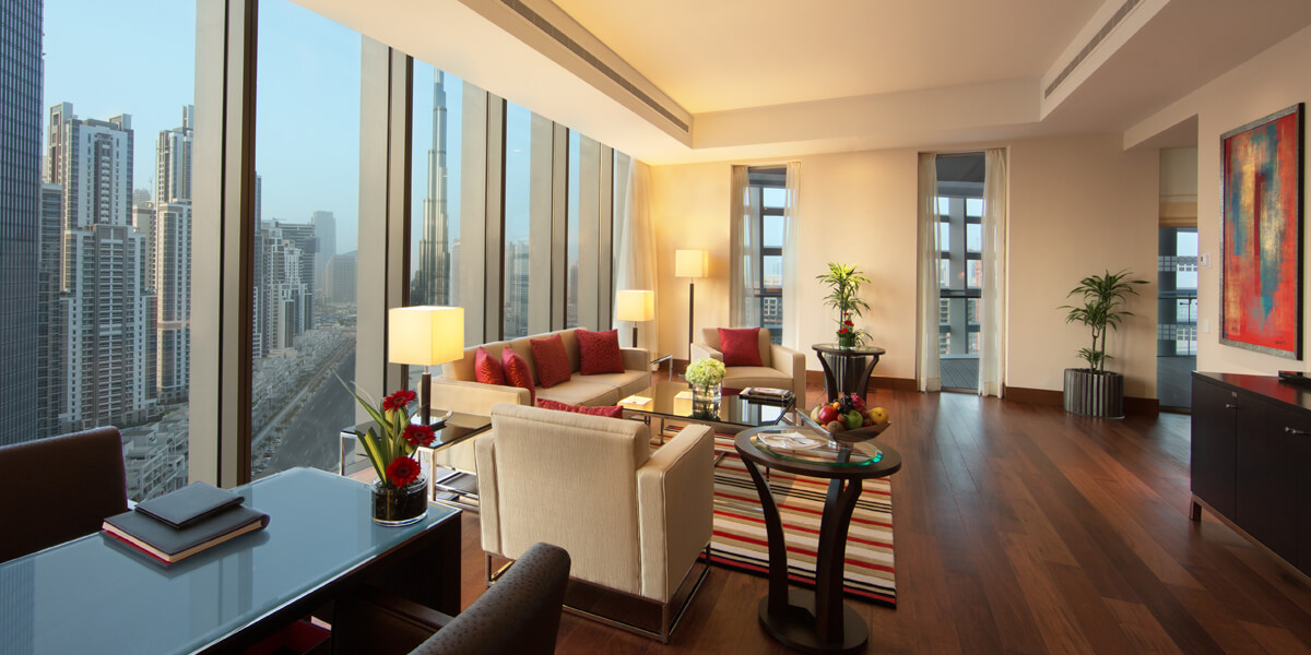 Luxury Suite With Balcony, Dining, & Personal Bar at The Oberoi, Dubai