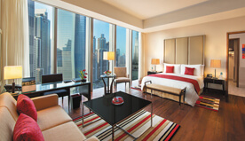 Uninterrupted View of Burj Khalifa & Naturally Lit During The Day are The Premier Rooms at The Oberoi, Dubai