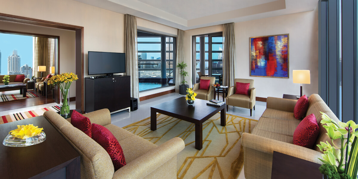 Presidential Suite With Master Bedroom, Living, Kitchen, Dining, Balcony & Luxury Bathroom at The Oberoi, Dubai
