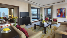 Presidential Suite With Master Bedroom, Living, Kitchen, Dining, Balcony & Luxury Bathroom - The Oberoi, Dubai