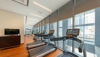 Cross-Trainers, Exercycles & Treadmills - Fitness Facility at The Oberoi, Dubai