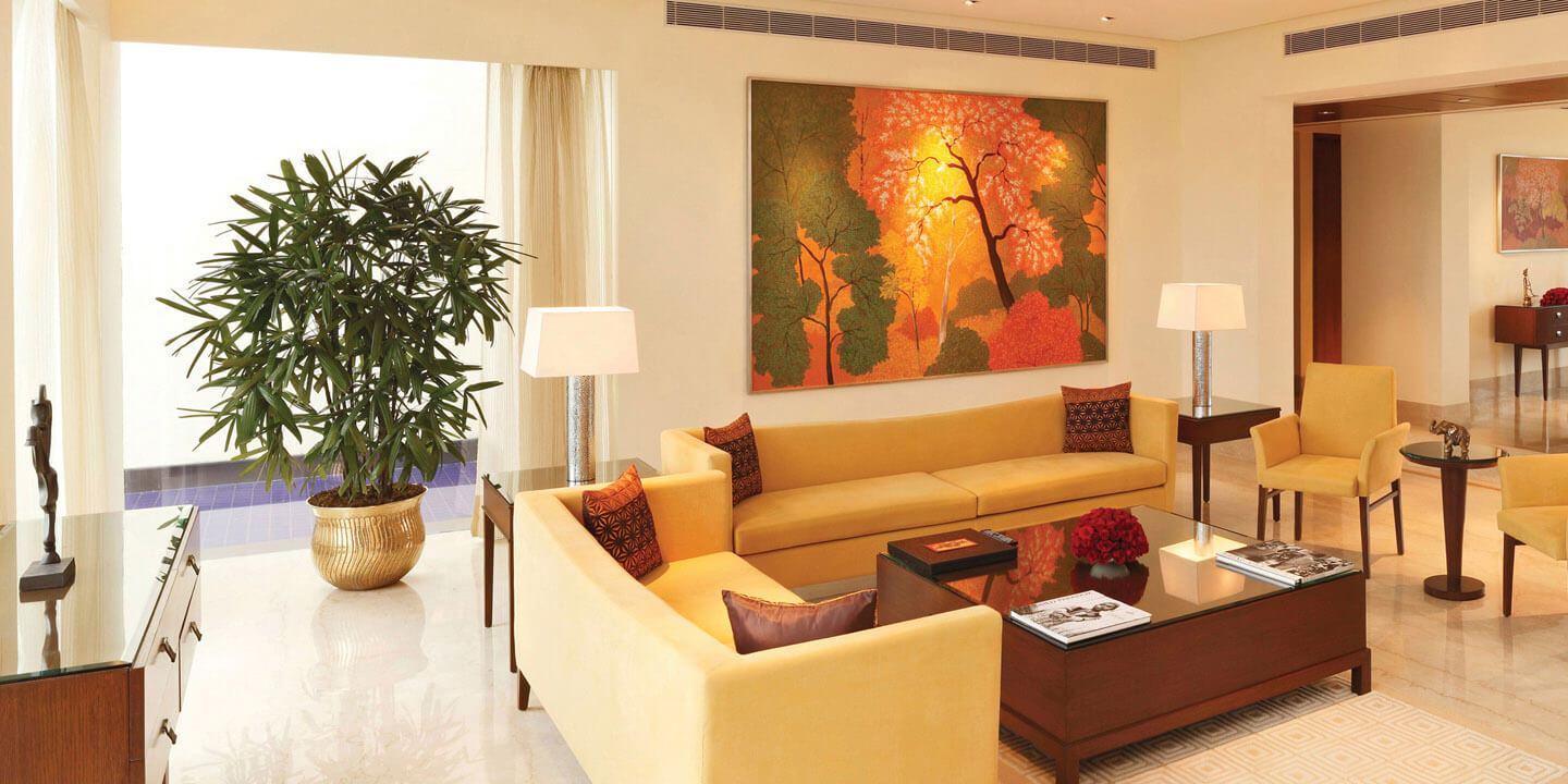 Private Living Room - Presidential Suites at The Oberoi, Gurgaon