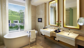 Deluxe Suites Offers View of The Lush Green Gardens & Are Technically Equipped - The Oberoi, Gurgaon
