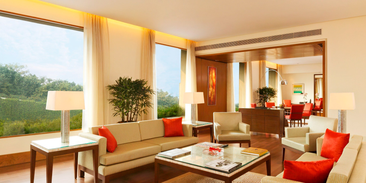 Luxury Suites With Grand Living & Bedroom at The Oberoi, Gurgaon