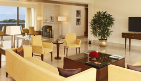 Expansive Living Room With a Fireplace - Presidential Suites at The Oberoi, Gurgaon