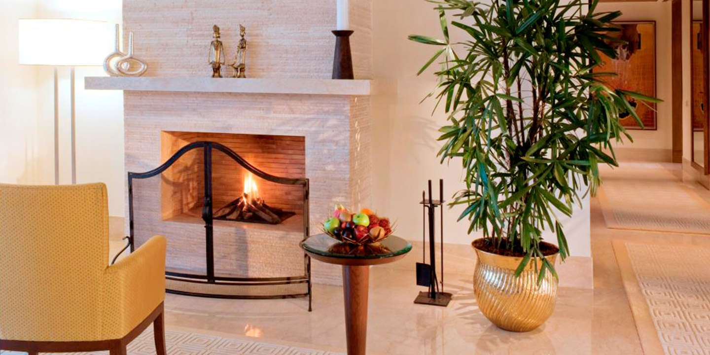 Fireplace in Living Area - Presidential Suites at The Oberoi, Gurgaon