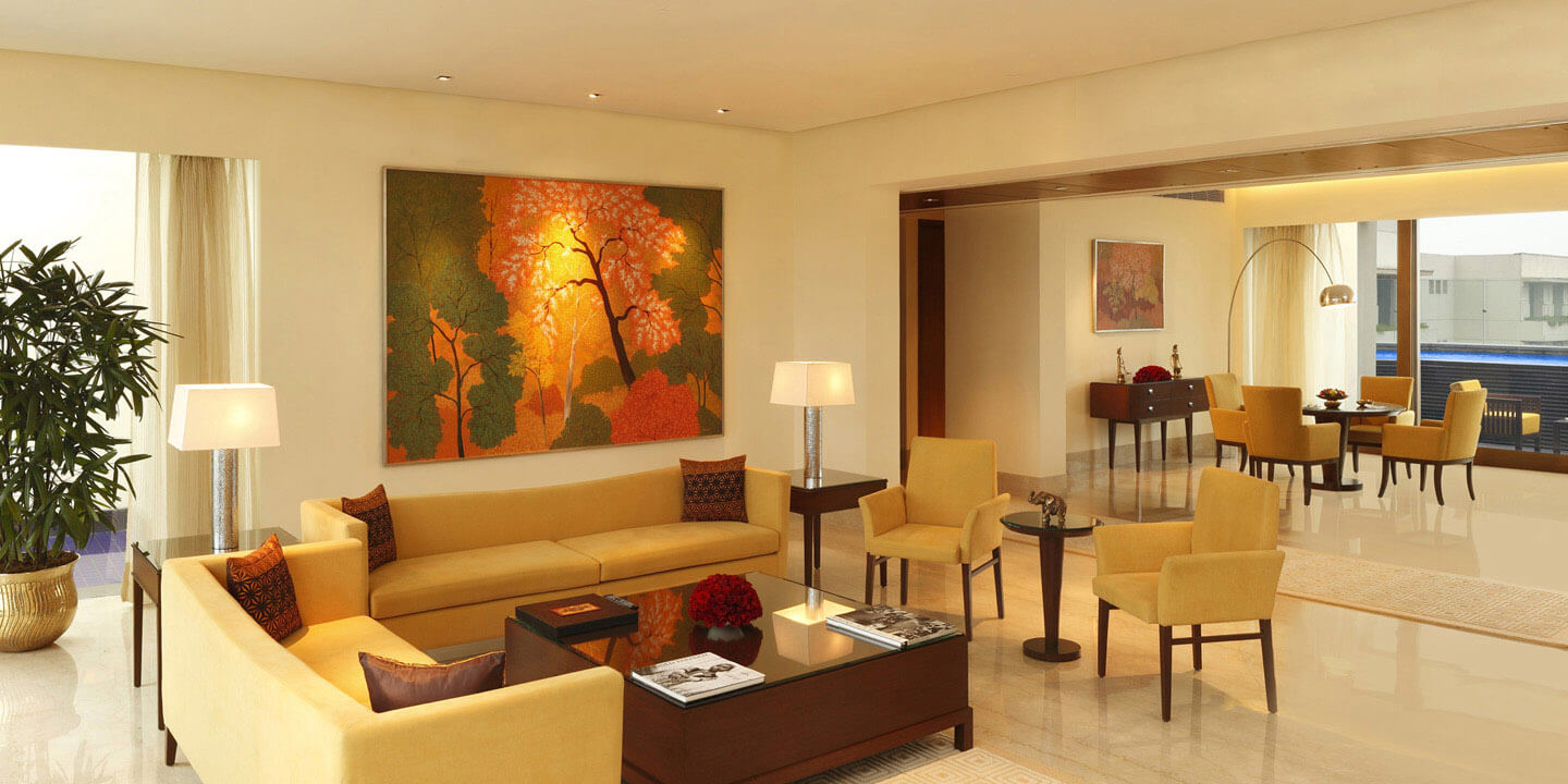 Presidential hotel suite the oberoi gurgaon 5 star for 5 star living rooms