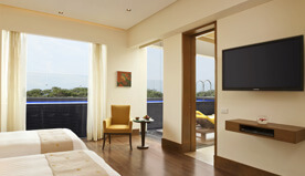 Facilities in Presidential Suites at The Oberoi, Gurgaon Include Private Pool, Yoga Lessons, Gym & Personalised Butler Service
