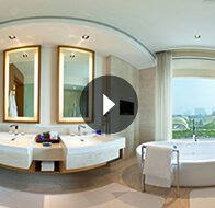 Take a 360° View of The Bedroom in Luxury Room Bathroom at The Oberoi, Gurgaon