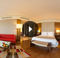Take a 360° View of The Bedroom in Luxury Rooms at The Oberoi, Gurgaon