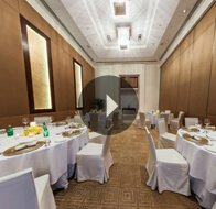 Take a 360° View of The Meeting Room Set For Dinner at The Oberoi, Gurgaon