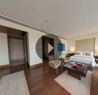 Take a 360° View of The Master Bedroom in The Presidential Suite at The Oberoi, Gurgaon