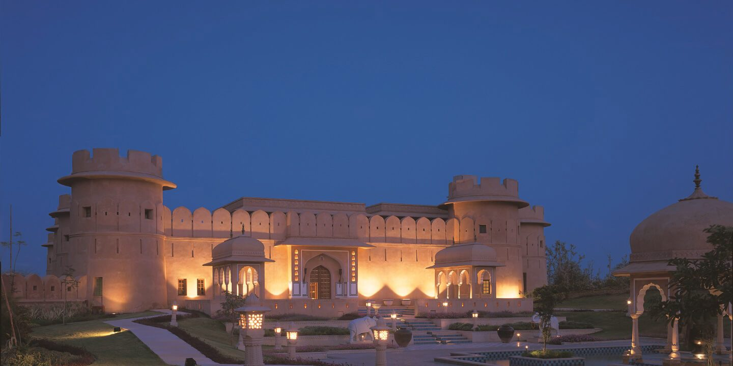 Reflective Pools Amidst Lawns & Gardens - The Oberoi Rajvilas, Jaipur