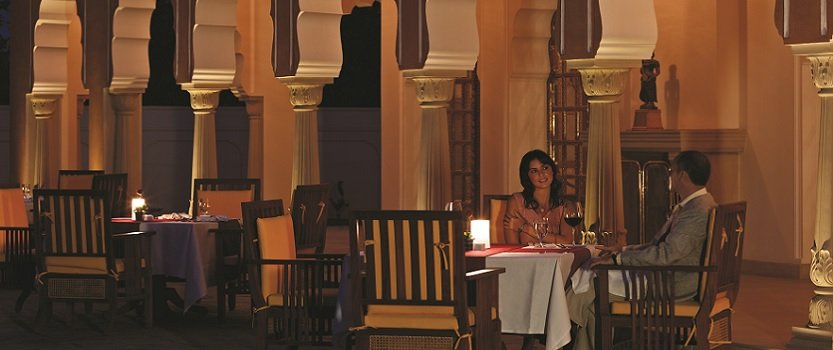 Dining in Chaarbagh in Traditional Lamp Lights - The Oberoi Rajvilas, Jaipur
