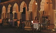 Dining in Chaarbagh in Traditional Lamp Lights at The Oberoi Rajvilas, Jaipur