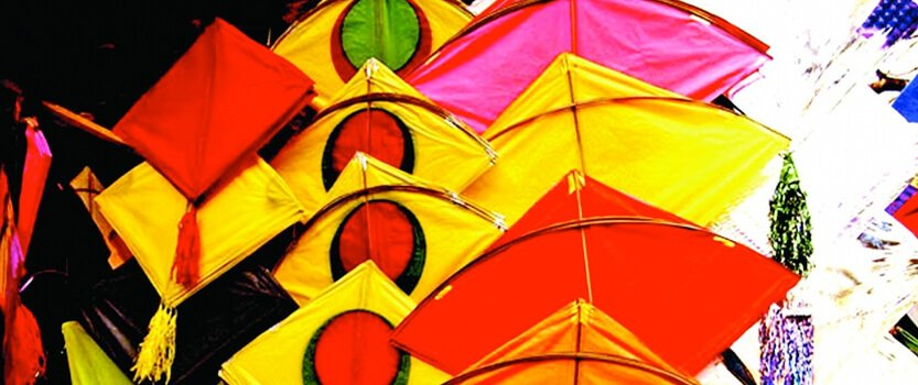 Kite Decoration and Flying