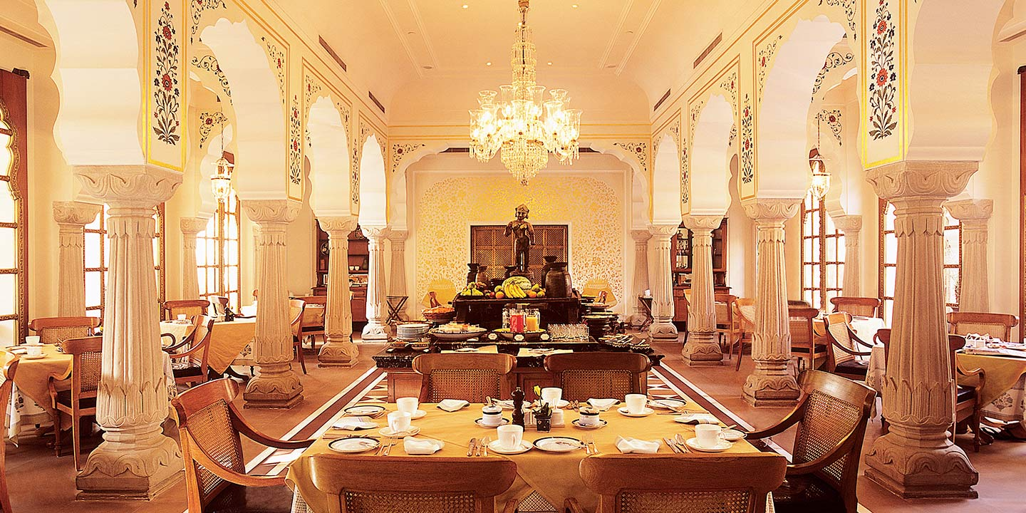 Surya Mahal - An All-Day Dining Area at The Oberoi Rajvilas, Jaipur