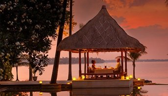 Romantic Sunset Dinner by the Beach at The Oberoi, Lombok