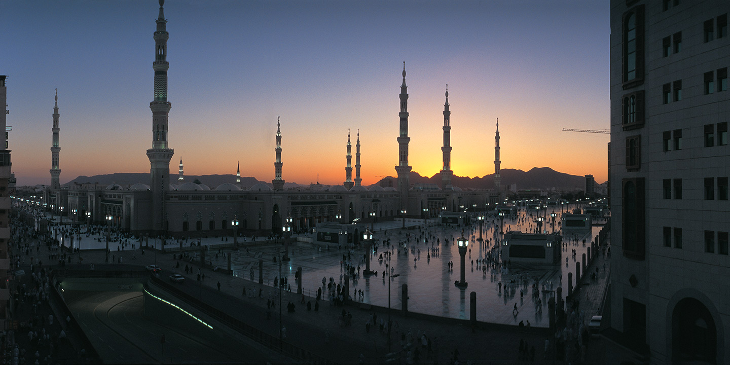 The Prophet's Mosque at Sunset - The Oberoi, Madina