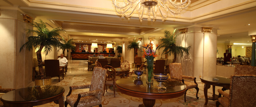 The lobby For An Arabic Coffee With a Smoking Area at The Oberoi, Madina