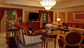 In-Room Services of Grand Royal Suites Include Multi-Cuisine, In-Room Dining & 70+ Channels - The Oberoi, Madina