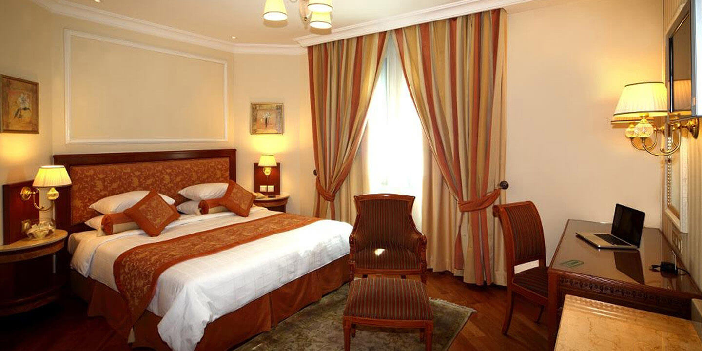 Junior Suites - Master Bedroom With Bathroom, Living & Attached Shower Room at The Oberoi, Madina