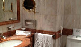 Twin Bathrooms for Twin Bedrooms of Junior Suites With Bathtub & Wall Mounted Shower at The Oberoi, Madina