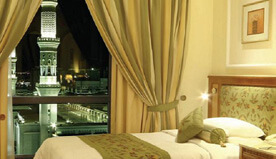 Standard Rooms Provide View of Prophet's Mosque & Surrounding Courtyards at The Oberoi, Madina