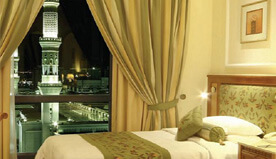 Studio Rooms Provide Choice of Views, Either Prophet's Mosque or Mountain Cityscape at The Oberoi, Madina