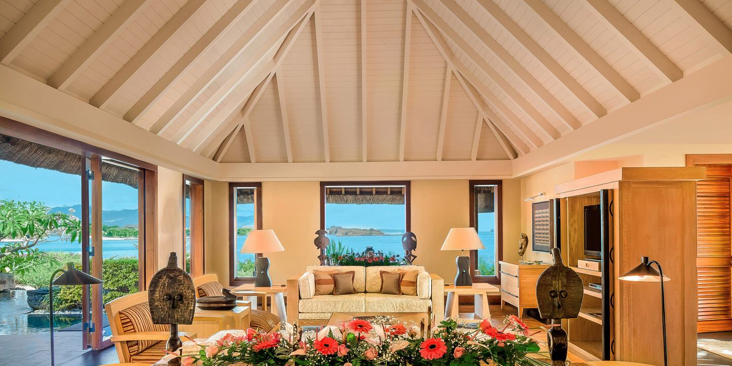 Living Room in The Royal Villa at The Oberoi, Mauritius