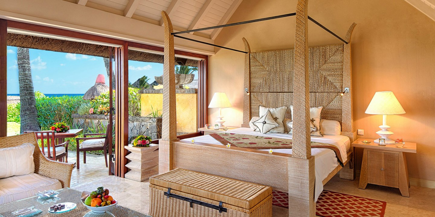 Bedroom of The Luxury Pavilion at The Oberoi, Mauritius