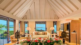 Pavilions & Villas are Bright & Spacious, Naturally Lit with Large Windows - The Oberoi, Mauritius