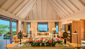 In-Room Conveniences of Royal Villa Include iPod Dock, Personal Bar & 24-Hour In-Room Dining - The Oberoi, Mauritius