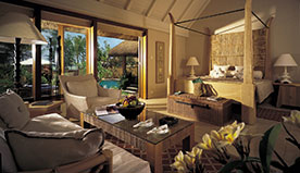In-Room Facilities of Luxury Villas Include In-Room Dining, Dining Pavilion & Swimming in Turtle Bay - The Oberoi, Mauritius