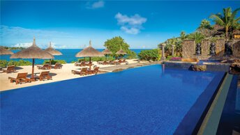 The Lagoon Pool Overlooking The Ocean - The Oberoi, Mauritius