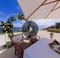 Take a 360° View of The Beachfront Wedding at The Oberoi, Mauritius