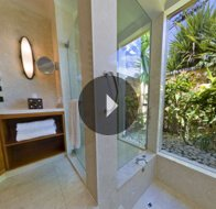 Take a 360° View of The Bathroom in Luxury Villa at The Oberoi, Mauritius