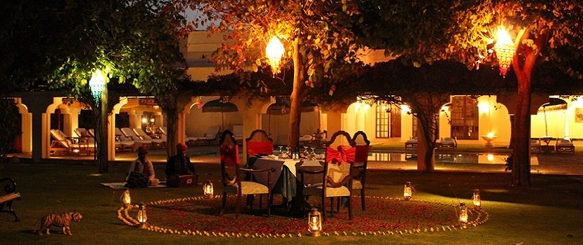 Dinner at The Mango Orchard at The Oberoi Vanyavilas, Ranthambhore