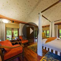 Take a 360° View of The Tented Bedroom in The Luxury Tent at The Oberoi Vanyavilas, Ranthambhore