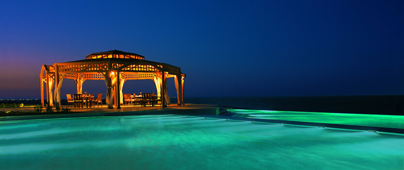 Pergola, Th Poolside Dining Space Serving Mediterranean & Far East Cuisine at The Oberoi, Sahl Hasheesh