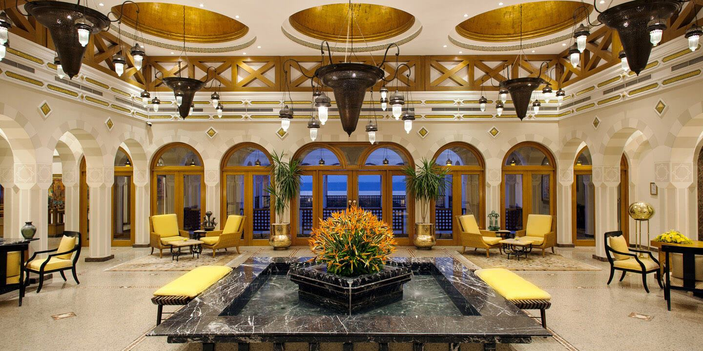 The Spacious Lobby at The Oberoi, Sahl Hasheesh
