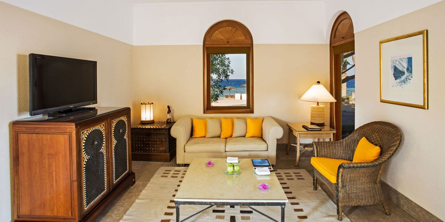 Living Room of The Royal Suites at The Oberoi, Sahl Hasheesh