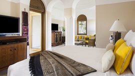 Deluxe Suites Are Tastefully Furnished in Egyptian Design at The Oberoi, Sahl Hasheesh