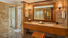 Exquisite Bathroom of The Royal Suite at The Oberoi, Sahl Hasheesh