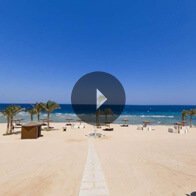 Take a 360° View of The Beach at The Oberoi, Sahl Hasheesh